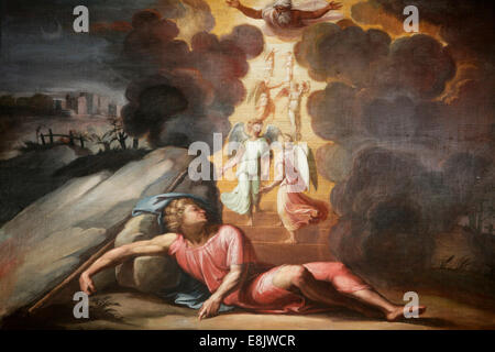 Hermitage Museum. The loggia of Raphael. Biblical scene - Stock Photo
