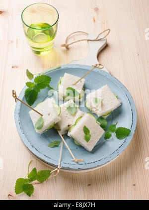 Cucumber sandwiches - Stock Photo