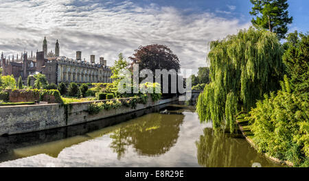 Kings college chapel from the backside, Cambridge, UK - Stock Photo