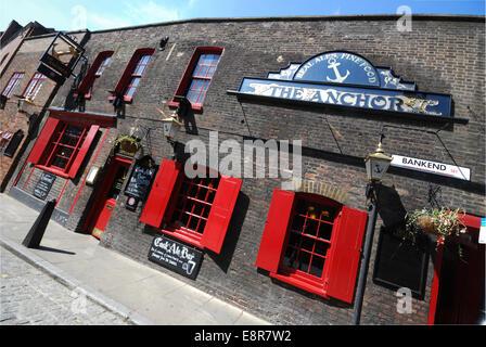 The Anchor Pub, London UK - Stock Photo