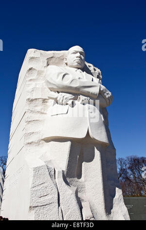 memorial of Martin Luther King Jr., Washington DC, against a blue sky - Stock Photo