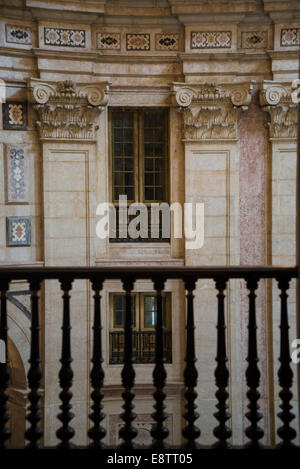 National Pantheon, Church of Santa Engracia, Interior view from a balcony, Lisbon, Portugal - Stock Photo