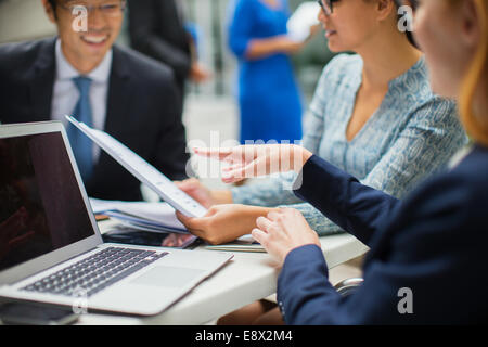 Business people having meeting in office building - Stock Photo