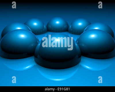 Abstract Blue Balls - Stock Photo