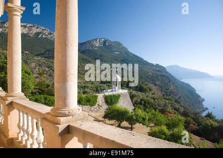 Deià, Mallorca, Balearic Islands, Spain. View from the terrace of Son Marroig, former home of Austrian Archduke - Stock Photo