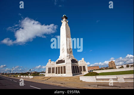 The Portsmouth Naval Memorial on Southsea Common commemorating members of the Royal Navy who had no known grave - Stock Photo