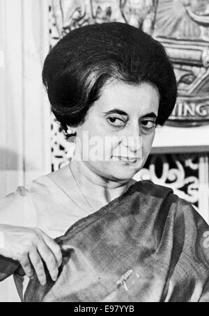 Indira Gandhi, Prime Minister Indira Gandhi of India - Stock Photo