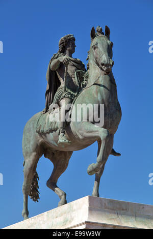 Statue of Louis XIV in Lyon city - Stock Photo