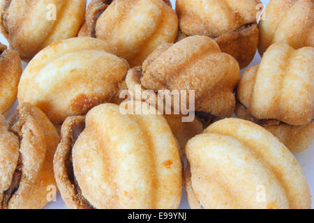 Cookies in the form of walnuts - Stock Photo