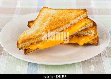 Grilled Cheese Sandwich, Hot Melting Cheese - Stockfoto