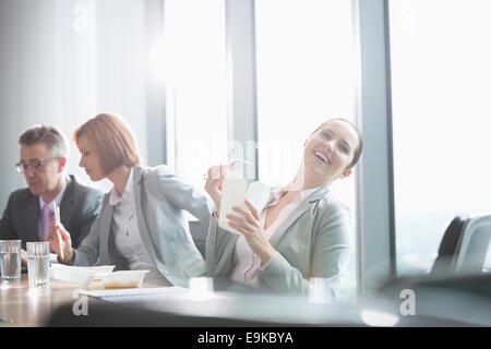 Business people on lunch break - Stock Photo