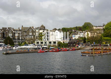 Rowing Boats For Hire On The Lake Shore At Bowness On Lake