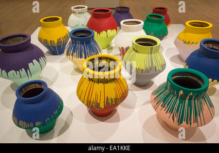 Ai Weiwei Han Dynasty Vases With Industrial Paint At The Royal