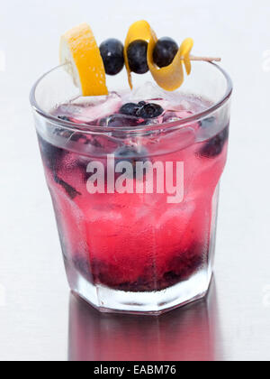 Blueberry Cocktail - Stock Photo