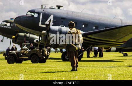 Duxford Air Show DDay anniversary - Stock Photo