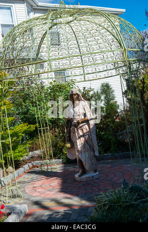 Statue in a garden in Cape May, New Jersey USA - Stock Photo