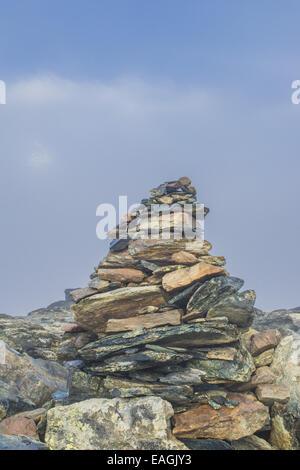 Mountain Matterhorn, Monte Cervino, Mont Cervin, 4.478 m, Rotenboden, Pennine Alps, Zermatt, Valais, Switzerland - Stock Photo