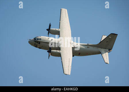 Fairford, UK - 12 July 2014: An Italian Airforce Alenia C-27J Spartan aircraft displaying at the Royal International - Stock Photo