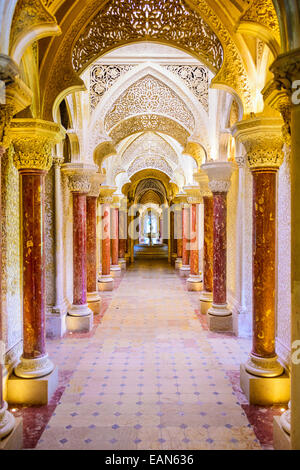 Monserrate Palace interior in Sintra. The palace was completed in 1858 for Sir Francis cook. - Stock Photo