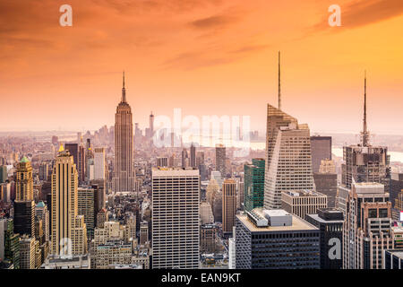 New York City, USA city skyline of midtown Manhattan. - Stock Photo