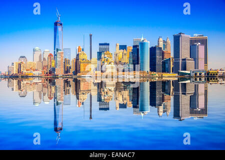 New York City, USA city skyline of Lower Manhattan. - Stock Photo