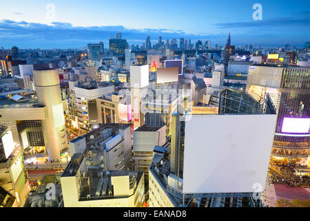 Tokyo, Japan cityscape at Shibuya Ward during at twilight. - Stock Photo