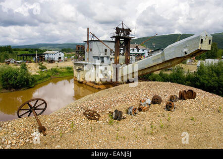 Goldstream Dredge #8 Near Fox Alaska Interior Summer - Stock Photo