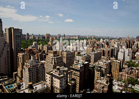 New York City view from 26th story of buildings and cityscape. - Stock Photo