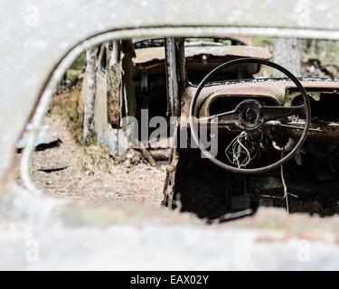 old broken car interior stock photo royalty free image 26817077 alamy. Black Bedroom Furniture Sets. Home Design Ideas