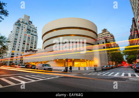 The Guggenheim Museum on 5th Ave in New York City, USA. - Stock Photo