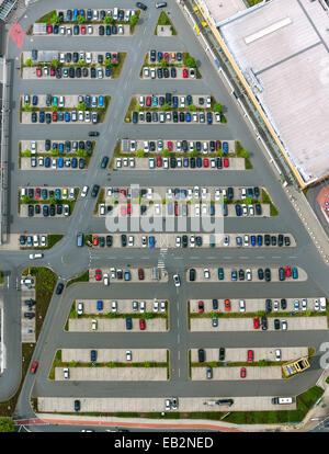Aerial view, carpark in Sterkrade-Mitte, Sterkrade, North Rhine-Westphalia, Germany - Stock Photo