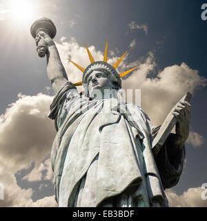 Statue of Liberty, New York, America, USA - Stock Photo