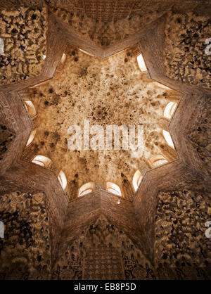Interior view of the Sala de los Abencerrajes, Alhambra, Granada Stock Photo,...