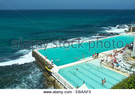Bondi Icebergs, a swimming club by the beach at Bondi. Sydney, NSW, Australia. - Stockfoto