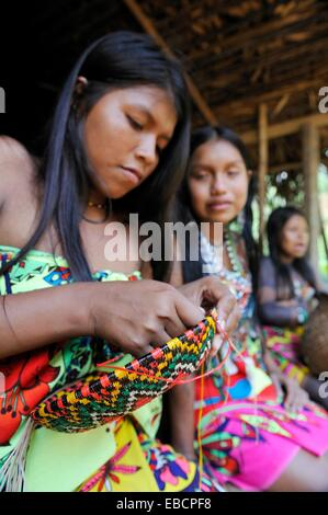 teenager of Embera native community living by the Chagres