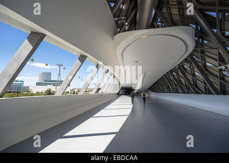 Bridge Pavilion at Expozaragoza designed by Zaha Hadid in Zaragoza, Aragon, Spain. - Stock Photo