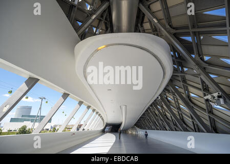 Bridge Pavilion at Expozaragoza designed by Zaha Hadid in Zaragoza Aragon Spain. - Stock Photo