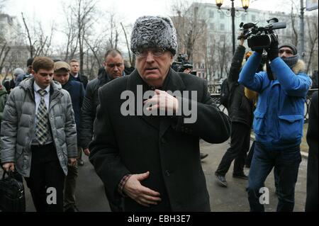 Moscow, Russia. 1st December, 2014. Russian billionaire Mikhail Prokhorov presents a Yo-mobile electric crossover - Stock Photo
