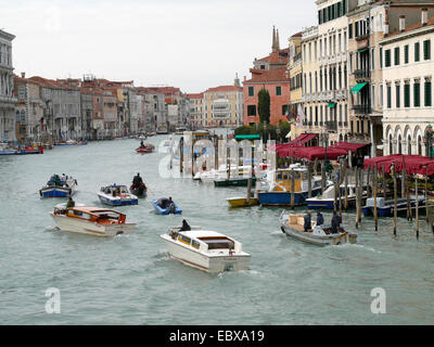 motor boats on the Canale Grande, Italy, Venice - Stock Photo
