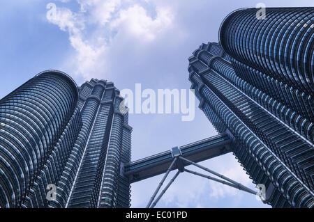 The Petronas Towers in Kuala Lumpur, the capital of Malaysia - Stock Photo