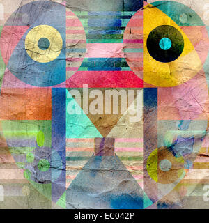 bright multicolored abstract background of geometric elements - Stock Photo