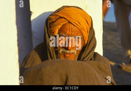 man with turban in sonpur india - Stock Photo