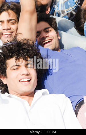 indian friends group Crowds - Stock Photo