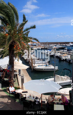 The harbour at Cala Ratjada in Mallorca , Spain - Stock Photo