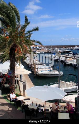 The harbour at Cala Ratjada in Mallorca , Spain - Stock Photo