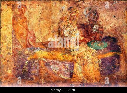 Roman Fresco House of the Farnesina - Stock Photo