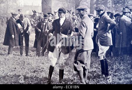Three Princes attend the army point to point meeting at Arborfield. - Stock Photo