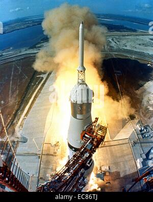 Photograph of the Apollo 11 Spaceflight launch - Stock Photo