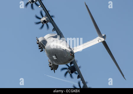 The Airbus A400M Atlas is a multi-national four-engine turboprop military transport aircraft. It was designed by - Stock Photo