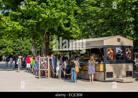 France, Paris, area listed as World Heritage by UNESCO, the Tuileries Gardens, listed as historical monuments in - Stock Photo